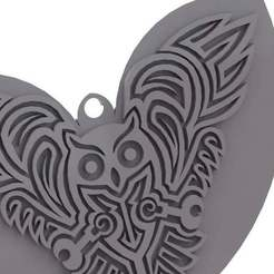 Download free 3D printer designs Celtic Owl - pendant/Keychain/earring, arifsethi
