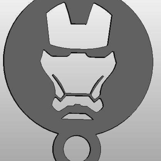 Audacieux Download free STL file coffee Stencil - ironman • 3D print object OQ-69