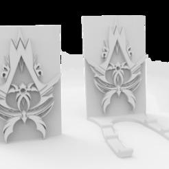 ac_inspired.png Download free STL file Assassins Creed Inspire - Phone/Tablet holder • 3D print design, arifsethi