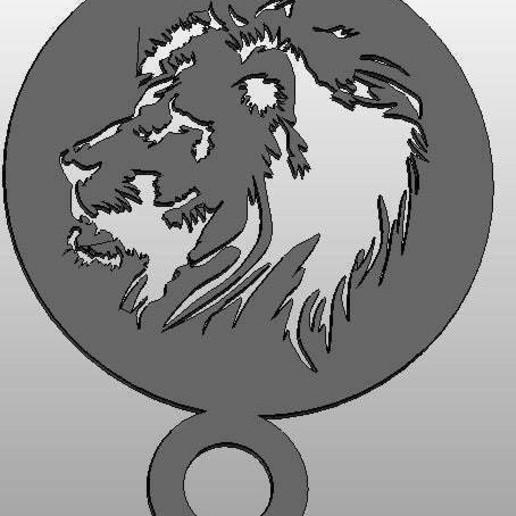 Télécharger plan imprimante 3D gatuit Pochoir à café - lion, arifsethi