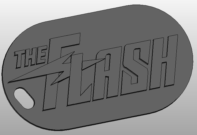 the_flash_title_display_large.jpg Download free STL file The Flash Keychain • Object to 3D print, arifsethi