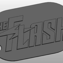 the_flash_title_display_large.jpg Télécharger fichier STL gratuit Le porte-clés Flash • Design pour impression 3D, arifsethi