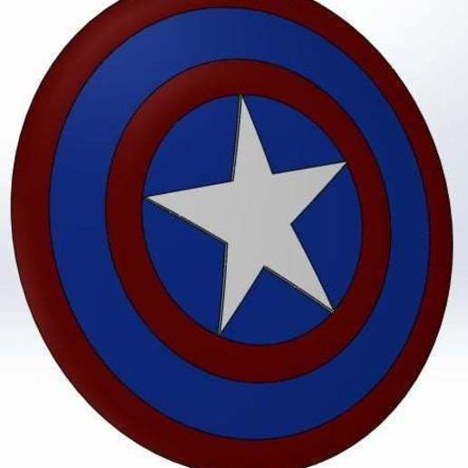 Download free STL Marvel - Captain America's shield, arifsethi
