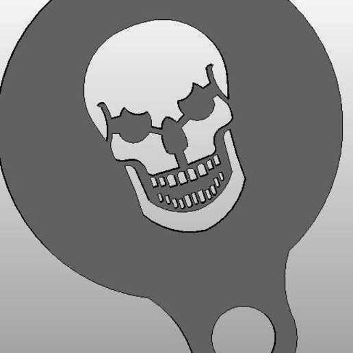 Download free 3D printer files coffee Stencil - skull, arifsethi