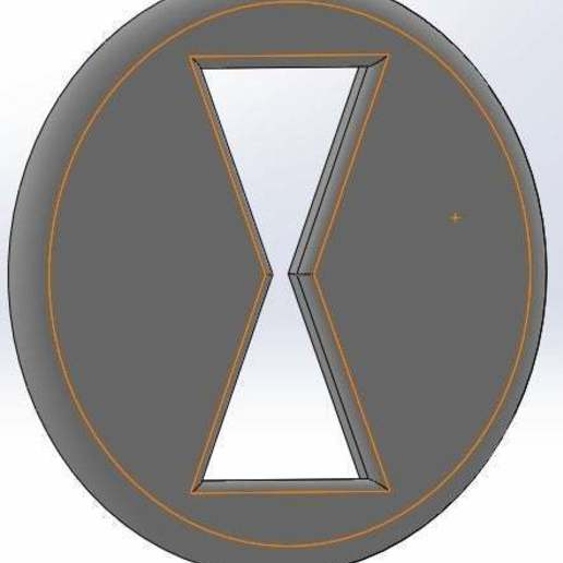 Télécharger plan imprimante 3D gatuit Marvel - Logo Blackwidow, arifsethi