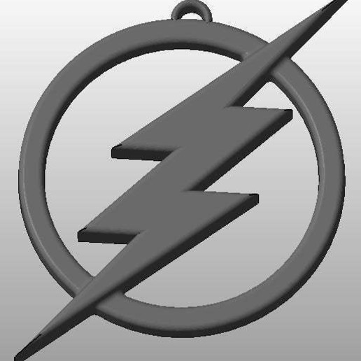Download free 3D print files The Flash Logo Keychain, arifsethi
