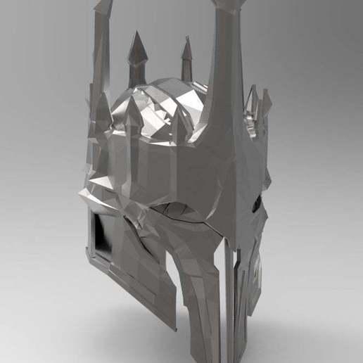 334a0d3137c43fad87cd9ba03e9204e8_display_large.jpg Download free STL file Sauron Armor - Helmet • 3D printable template, arifsethi