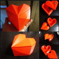 Impresiones 3D caja de regalo corazón, zigsgroup