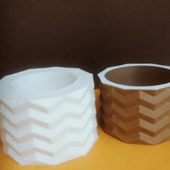 Fichier 3D jardinière en zigzag, zigsgroup