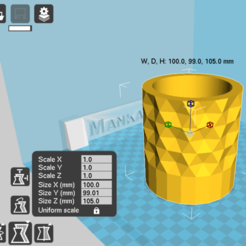 Fichier imprimante 3D Jardinière 6 polygones, zigsgroup