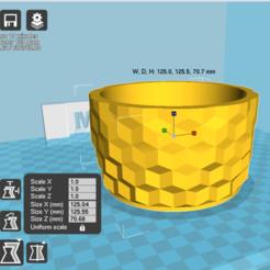 Download 3D printing templates 3dqub pot, zigsgroup