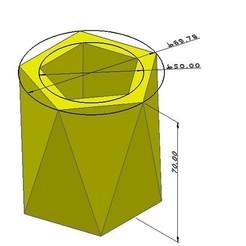 3D printer models  polygon pot mold, zigsgroup