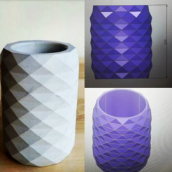 Download 3D printing files 12polygon pot mold, zigsgroup