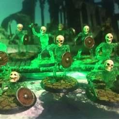 Descargar Modelos 3D para imprimir gratis Esqueleto Guerreros con Espada y Escudo x 10 Poses, BigMrTong