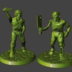 Download free STL file 28mm Undead Armed Zombies, BigMrTong
