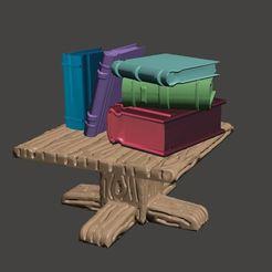 Descargar modelo 3D gratis Sesenta libros para rellenar estanterías, remezclas, etc. - 28mm, BigMrTong