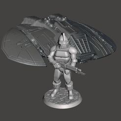 Download free 3D print files 28mm Space Raider Centurion Miniature, BigMrTong