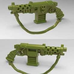 stubber0.jpg Télécharger fichier STL gratuit Ork Stub Gun / Orc Stubber Rifle - 28mm • Modèle pour imprimante 3D, BigMrTong