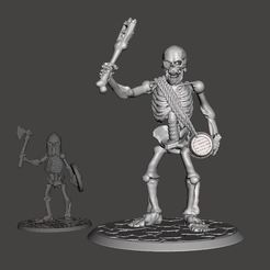 56d8ef3fa6177277ff155c63e95ada9f_display_large.jpg Download free STL file 28mm Skeleton Army Undead Giant • 3D print template, BigMrTong