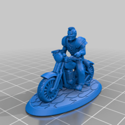 TestBiker.png Download free STL file 28mm Post Apocalyptic Biker Punk Gang Member - FWW & Gaslands etc • 3D printing design, BigMrTong