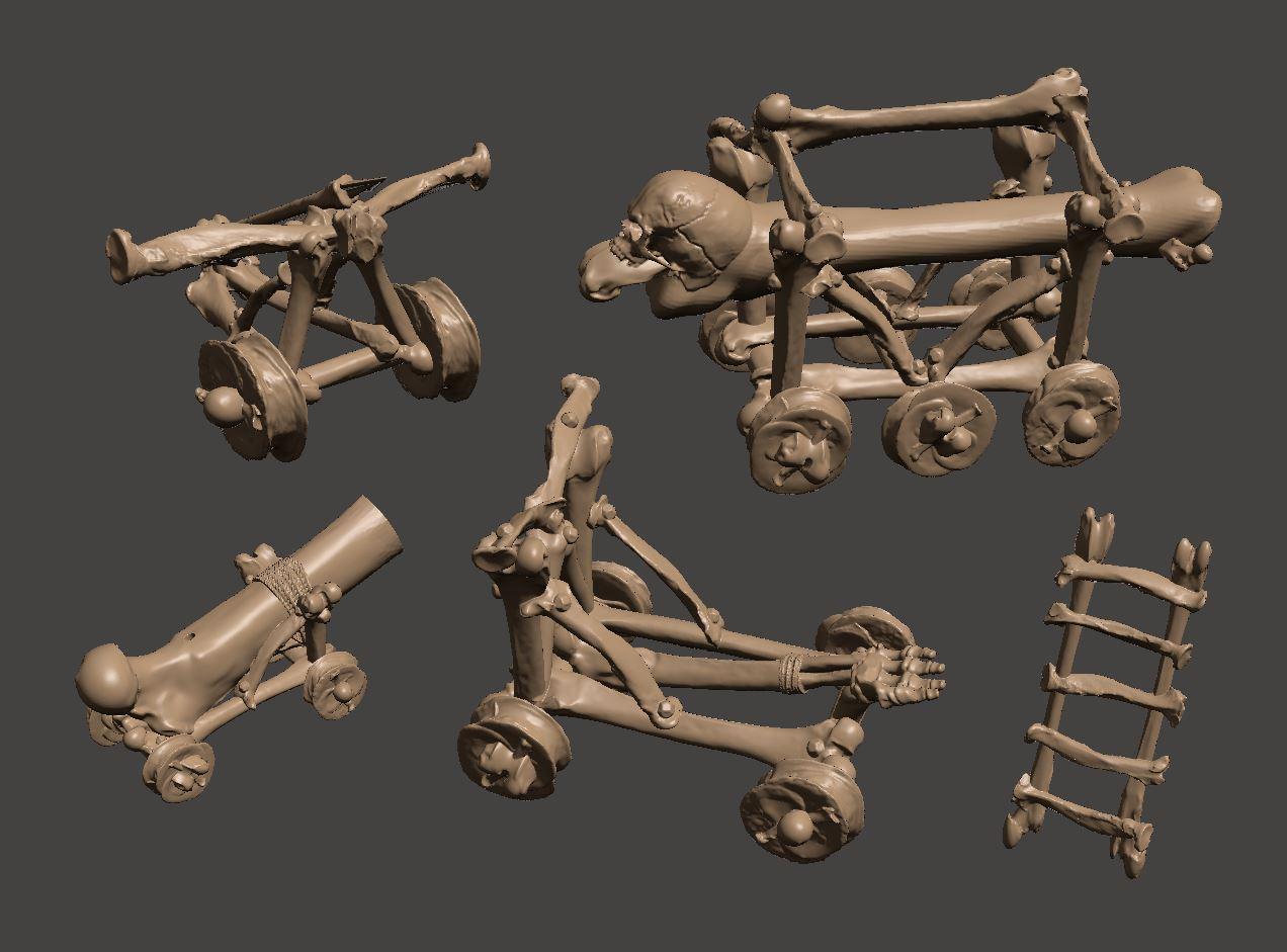 Cat4.JPG Télécharger fichier STL gratuit Catapulte squelette mort vivant - Warmachines • Plan pour impression 3D, BigMrTong