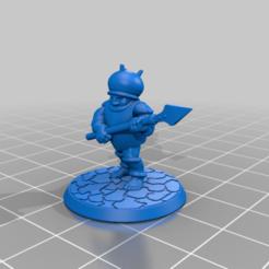 Descargar archivos 3D gratis Miniatura de 28mm de media caña con lanza de juego de guerra, BigMrTong