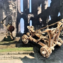 Descargar STL gratis Catapulta de esqueletos no muertos - Warmachines, BigMrTong