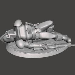 Descargar STL gratis Marcador en miniatura 28mm Dead / Casualty Space Raider Centurion, BigMrTong