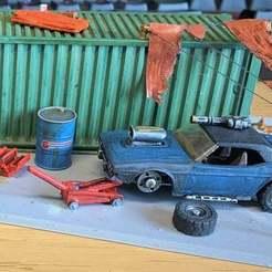 Descargar archivos STL gratis Matchbox / Hotwheels Car Jack - 1:64 20mm Gaslands, BigMrTong