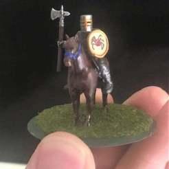 Imprimir en 3D gratis 28mm Knight of Serbia Miniatura - De pie Desmontado, BigMrTong