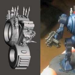 Descargar archivos STL gratis Sarcófago del caos y brazo para mandril de robot, BigMrTong
