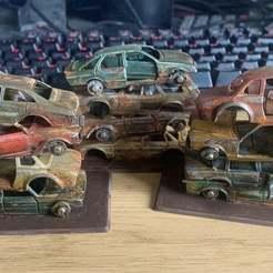 Descargar Modelos 3D para imprimir gratis Gaslands Scrap Car Wheel Hubs - Matchbox / Hotwheels, BigMrTong