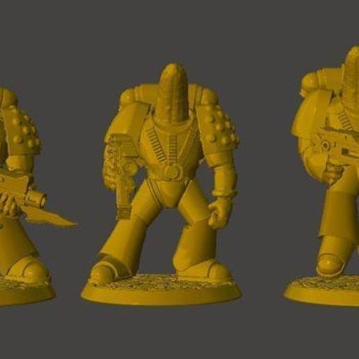 Descargar STL gratis Escuadrón Táctico de Caballeros Espaciales Banana con Armadura de Poder, BigMrTong