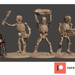 Imprimir en 3D gratis 28mm Esqueleto Ejército Gigantes No Muertos Miniaturas, BigMrTong