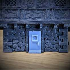 Impresiones 3D gratis Puerta para la casa de guerra estilo Tudor medieval a escala de 28 mm., BigMrTong