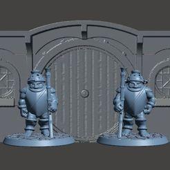 Impresiones 3D gratis Mitades de 28mm con miniaturas de mosquete, BigMrTong