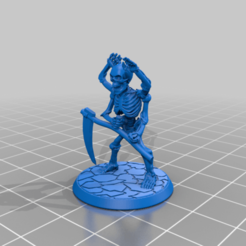 Thassaloss.png Download free STL file Thassaloss - Bone Golem - 28mm Fighting Fantasy Figure • 3D printer template, BigMrTong