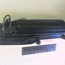 Download free 3D printer designs E11 Stormtrooper Blaster T Track - Star Wars, BigMrTong