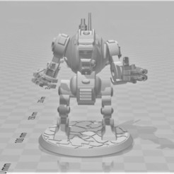 Download free 3D printer templates Chuck Furibundus Pattern Style Dreadnought - 28mm Robot Sci-Fi, BigMrTong