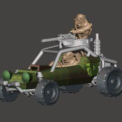 Download free 3D print files 20mm - DarkFuture / Gaslands Off Road Buggy Parts - 1/64, BigMrTong
