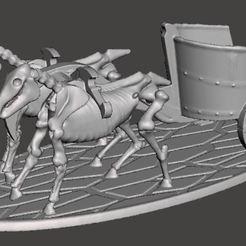 Download free 3D print files 28mm Skeleton Warrior War Chariot (no crew), BigMrTong