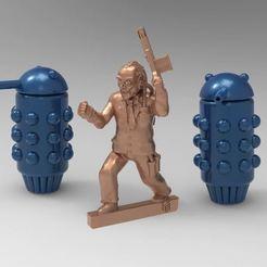 LaserSquadA.JPG Download free STL file Laser Squad Sterner Regnix's Guard Droid / Robot - 28mm Miniature • 3D print model, BigMrTong