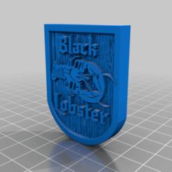 BlackLobsterSign.png Download free STL file Black Lobster Pub /  Tavern / Inn Sign • 3D printer template, BigMrTong