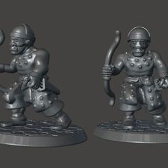 Download free 3D printer templates 28mm - Orc / Goblin / Hobgoblin Archer Miniature With Bow, BigMrTong