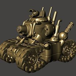 55c8284b013abeda796d53dc9ddd14ea_display_large.JPG Download free STL file Metal Slug SV001 Tank - Remix • Model to 3D print, BigMrTong