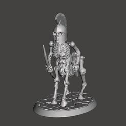 Download free 3D printer designs 28mm - Undead Skeleton Centaur with Longbow, BigMrTong