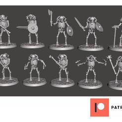 e1128731dadbb4123eed8e0eccbed20a_display_large.jpg Download free STL file Skeleton Beastman Warriors - Melee Ram Ragers • 3D print template, BigMrTong