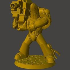 Download free 3D printer designs Heavy Weapon Banana Space Knight in Power Armour, BigMrTong