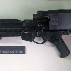 Imprimir en 3D gratis Soportes de pared para pantallas E11 Blaster - Star Wars Stormtrooper, BigMrTong