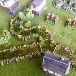 Descargar modelo 3D gratis Wargaming River - Largo recto y curva de 90o 15mm / 28mm, BigMrTong